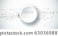 Vector design 3d paper circle with circuit board. Illustration Abstract modern futuristic, engineering, science, technology background. Hi tech digital connect, communication, high technology concept 63036988