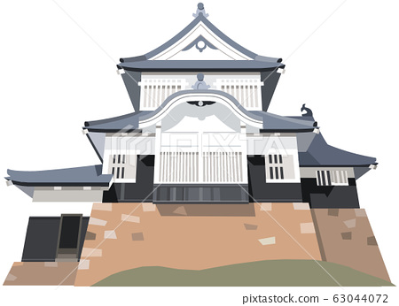 Bicchu Matsuyama Castle image Tourist spot illustration icon 63044072