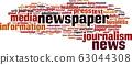 Newspaper word cloud 63044308