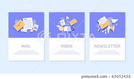 email sending concept, online advertising,Email and messaging,Email marketing campaign,flat design icon vector illustration 63052458