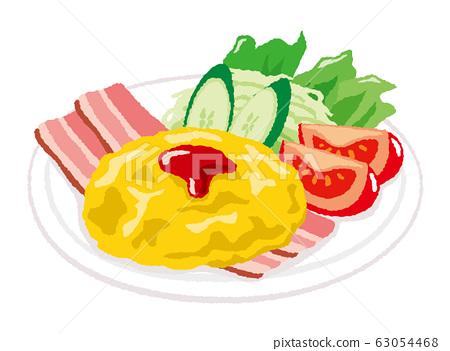 炒雞蛋的插圖 63054468