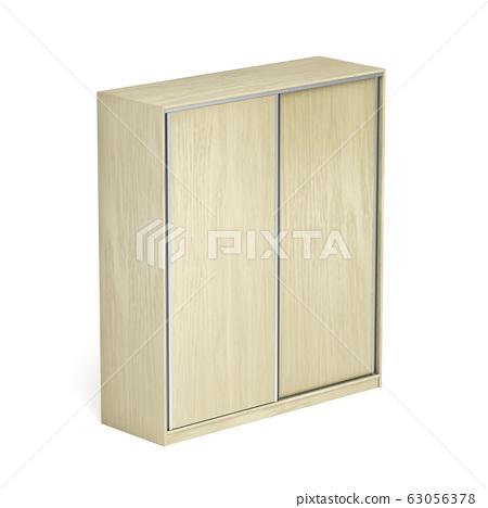 Wardrobe on white background 63056378