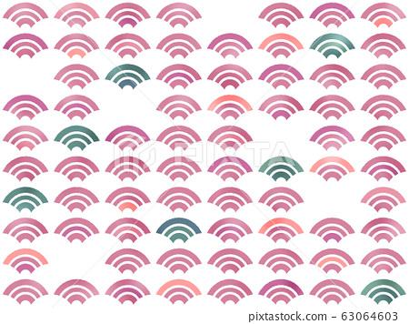 칭하이 파도 벽지 그린 바람 찢어진 칭하이 파도 랜덤 (빨강 계열 + 녹색 계열) [JPG / PNG 배경 투명] 63064603