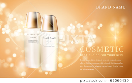 3D transparent cosmetic bottle container with 63066459