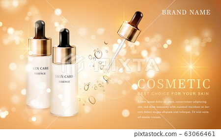 3D transparent cosmetic bottle container with 63066461