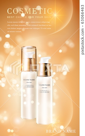 3D transparent cosmetic bottle container with 63066463