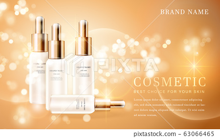 3D transparent cosmetic bottle container with 63066465