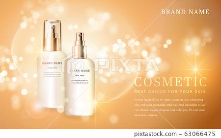 Cosmetic bottles_golden 05 63066475