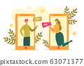 People Online Communication Flat Vector Concept 63071377