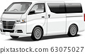 Commercial vehicle illustration One box business vehicle Original design 63075027