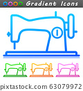 Vector sewing machine symbol icon 63079972