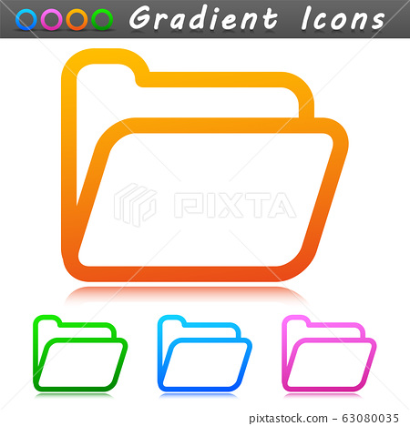 Vector folder symbol icon design 63080035