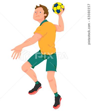 手球運動員圖(無縫) 63080357