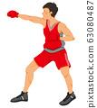拳擊手的插圖(無縫) 63080487