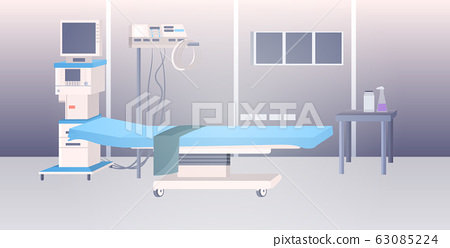 modern clinic intensive therapy room empty no people hospital ward interior horizontal 63085224