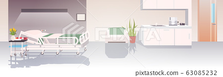 modern clinic intensive therapy room empty no people hospital ward interior horizontal 63085232