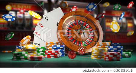 Casino jackpot and gambling concept background. 63088911