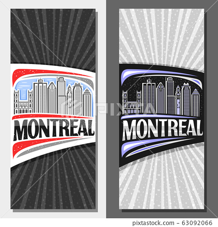 Vector vertical layouts for Montreal 63092066