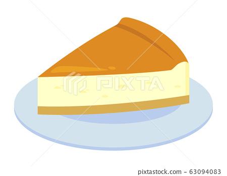 Cheesecake vector illustration 63094083