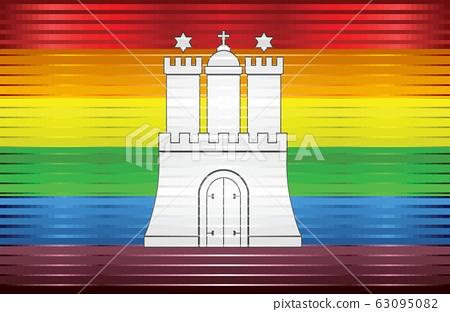Shiny Grunge Hamburg and Gay flags 63095082