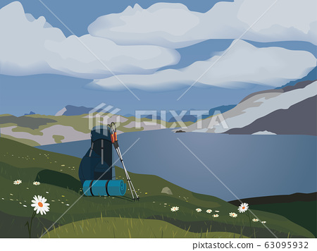 Green mountains valley 63095932