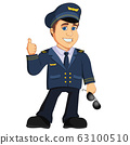 Pilot Aviation Captain Vector illustration cartoon mascot character 63100510