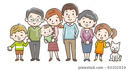 家庭三代人 63102819