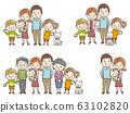 Family 3 generations set 63102820