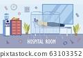 Hospital Room or Ward for Patient Hospitalization. 63103352