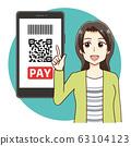家庭主婦無現金無現金支付智能手機 63104123