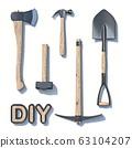 DIY construction tool set 3D 63104207