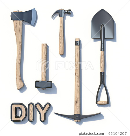 DIY construction tool set 3D 63104207