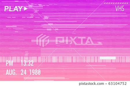 VHS camera effect with glitch 63104752