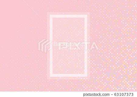 Abstract random pastel color particles on pink 63107373