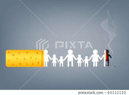 No smoking concept. World no tabacco day, May 31. Illustration. 63112110
