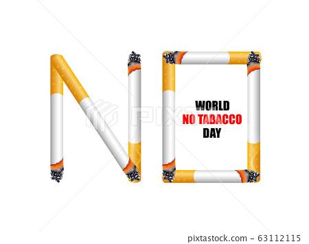 No smoking concept. World no tabacco day. Illustration. 63112115