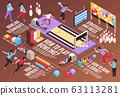 Isometric Bowling Infographic Flowchart 63113281