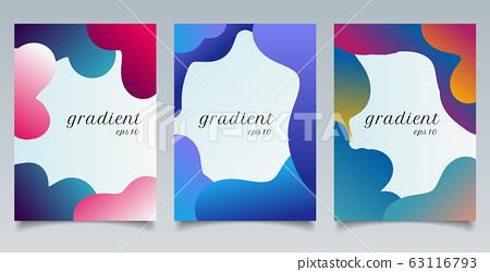 Set of brochure template abstract fluid gradient 63116793