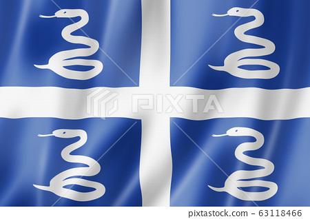 Martinique snake flag, Overseas Territories of 63118466