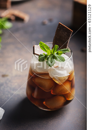 A glass of cold summer coffe 63121129