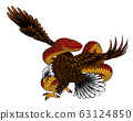 Illustration of eagle fight with snake vector 63124850