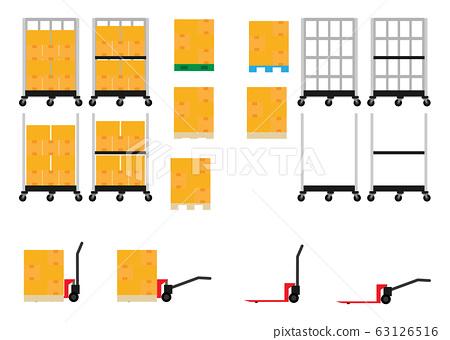 搬運行李的手推車,例如籃子車和六輪車,以及托盤行李 63126516