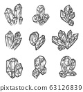 Sketch crystals, gemstones and gem jewelry 63126839