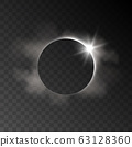 Vector realistic eclipse transparent effect with 63128360