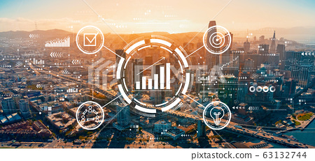 Marketing concept with downtown San Francisco 63132744