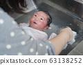 목욕지도를받는 어머니 _ 생후 4 일 남아 63138252