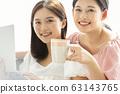 PC를 보면서 휴식 두 젊은 여성 63143765