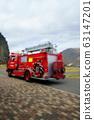 救护车模糊图像 63147201