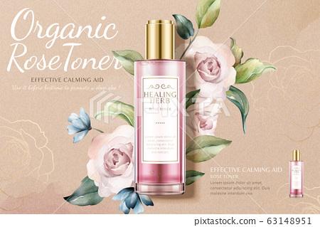 Romantic rose toner ads 63148951
