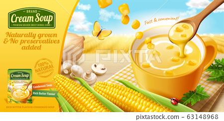 Instant corn cream soup ads 63148968